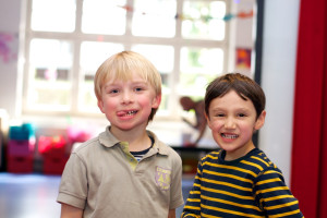 Unsere Jungs im Elementarbereich lachen gerne für die Kamera